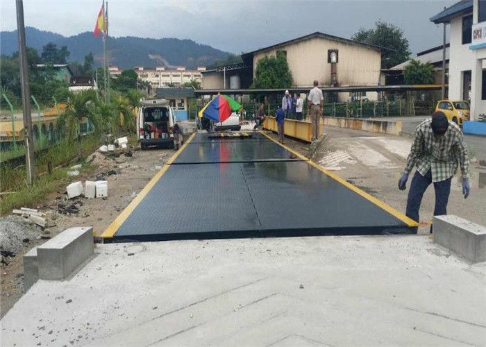 100 Ton Truck Weighbridge / Road Weighbridge Steel Plate Material With Ramps